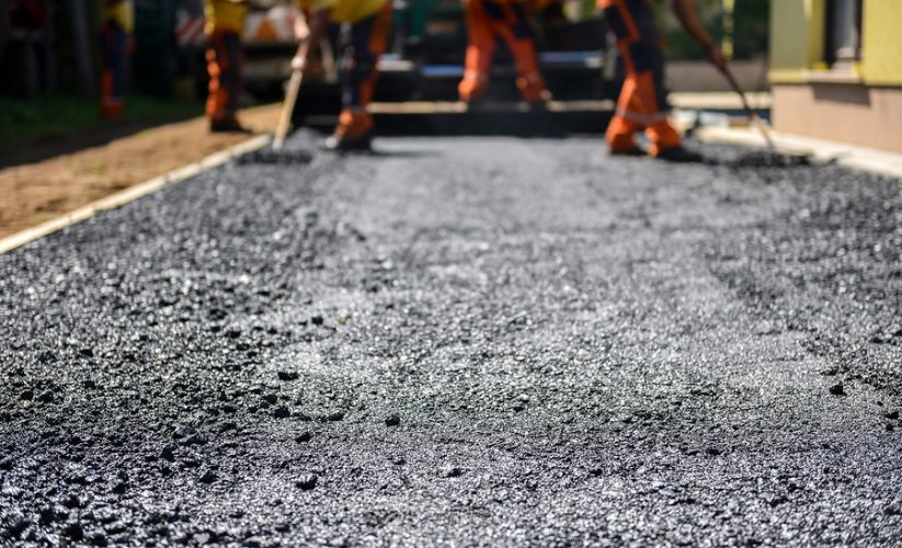 This is a picture of an asphalt driveway installation service.