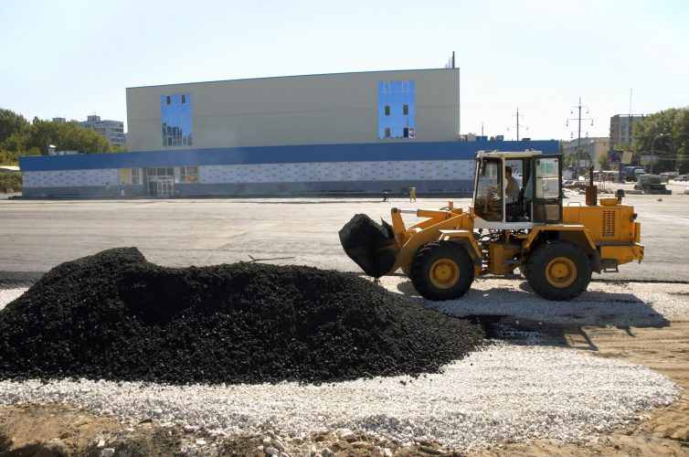 This is a picture of a commercial paving services.